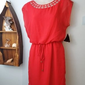 Red City Triangle Dress